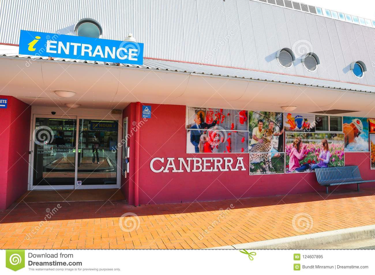 The entrance of Tourist Information center of Canberra.