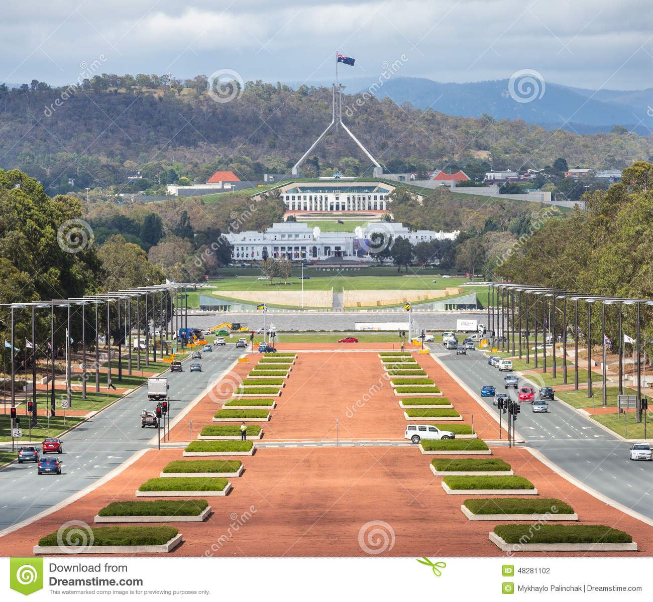 Canberra Australia Capital View From War Museum To