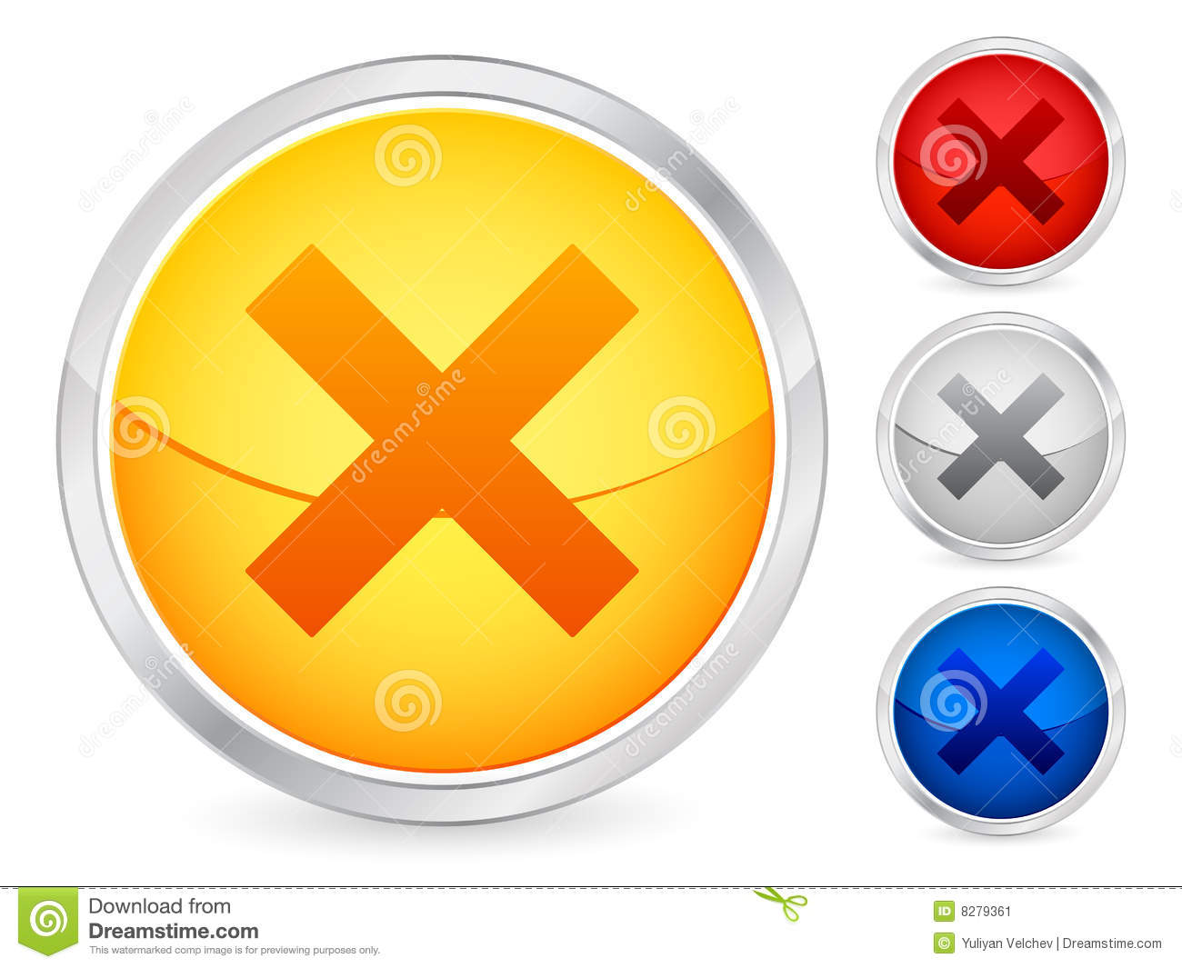 Cancel button stock vector. Image of cancel, blue ...