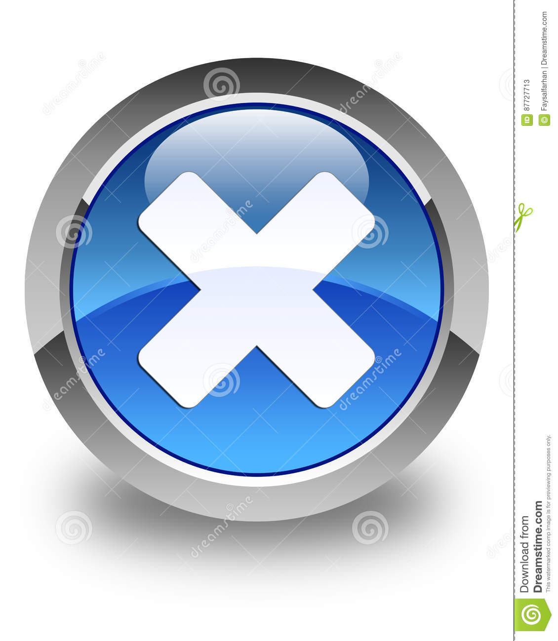 Cancel Icon Glossy Blue Round Button Stock Illustration ...