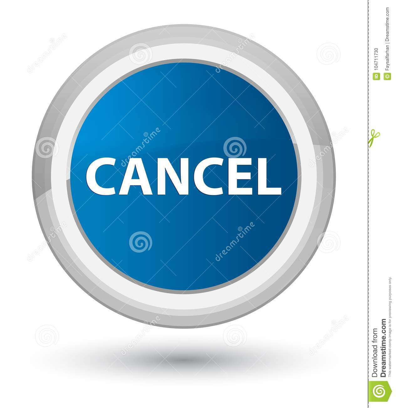 Cancel Prime Blue Round Button Stock Illustration ...