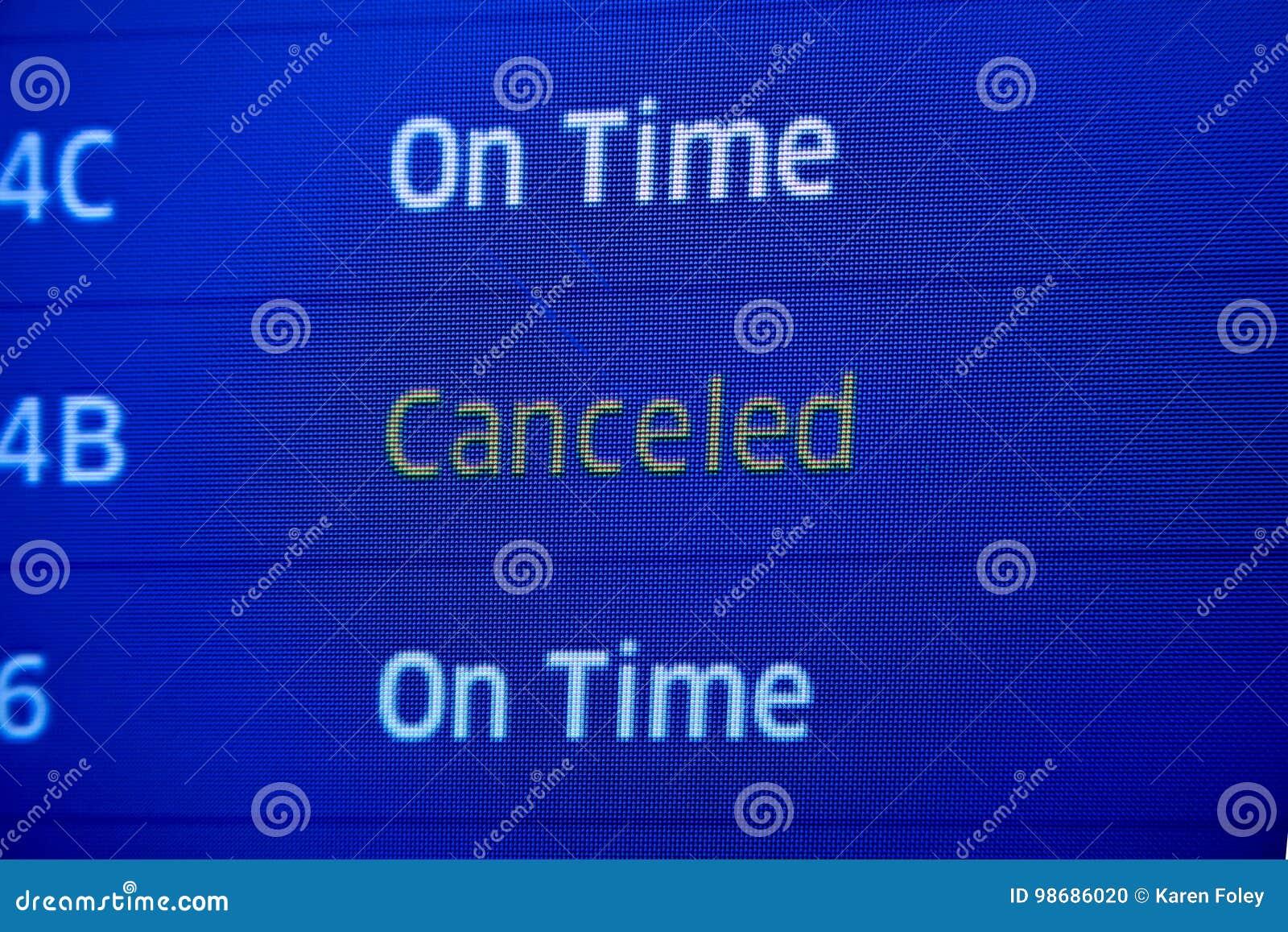 Canceled fllight status