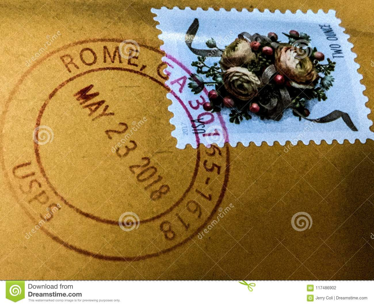 Canceled Postage Stamp from Rome, Georgia
