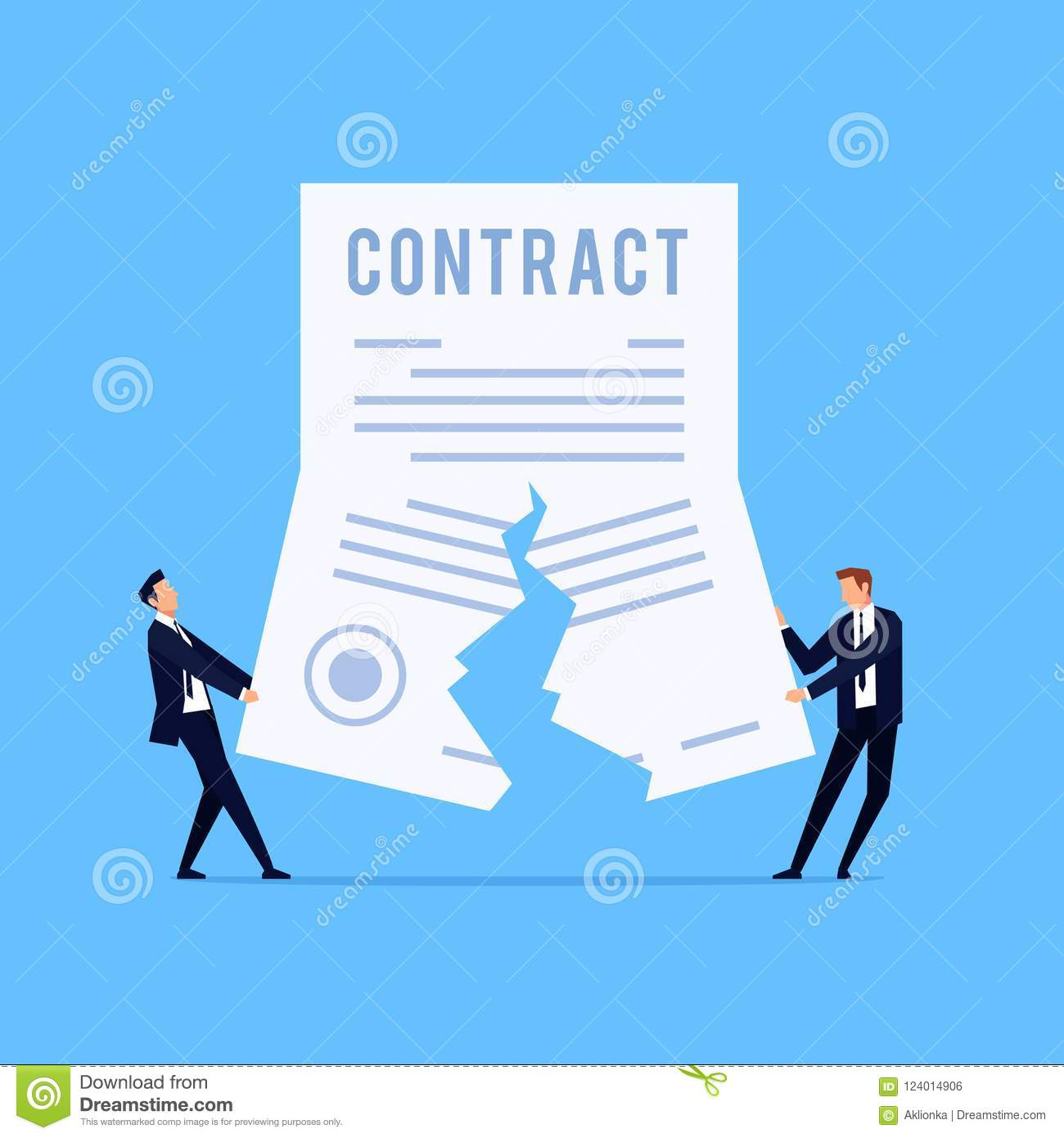 Cancellation of a contract.