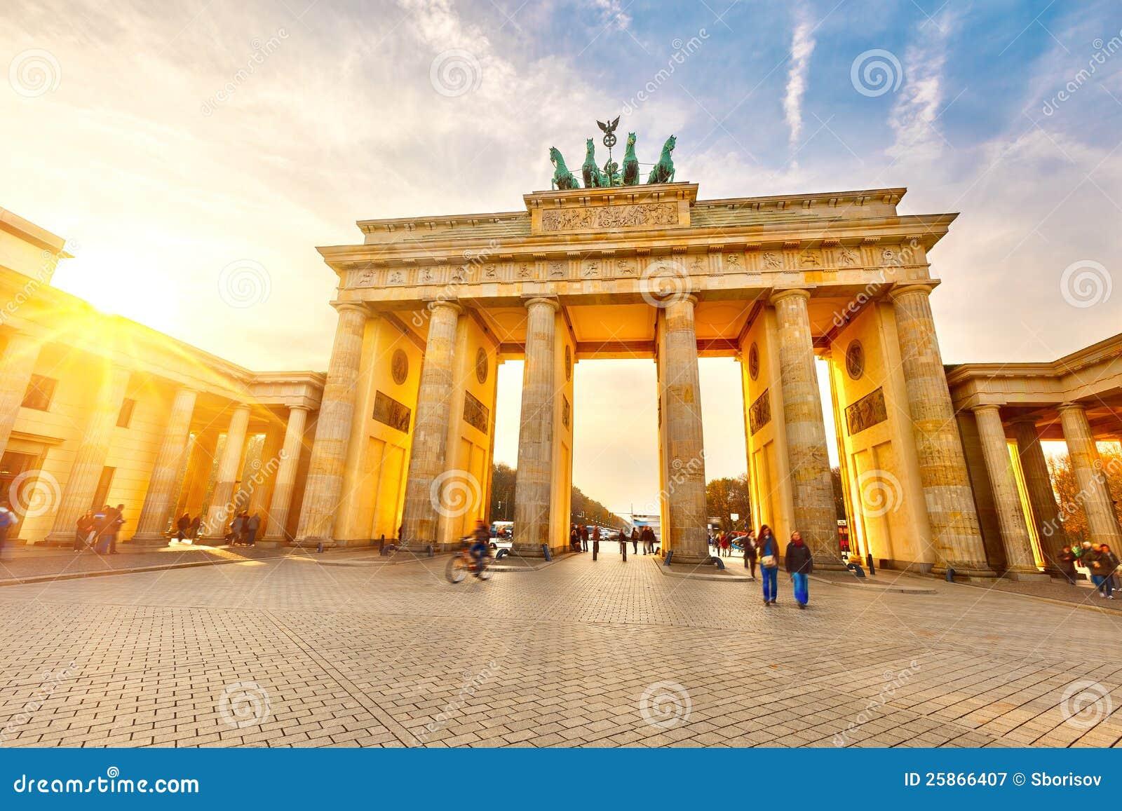 Cancello di Brandeburgo al tramonto