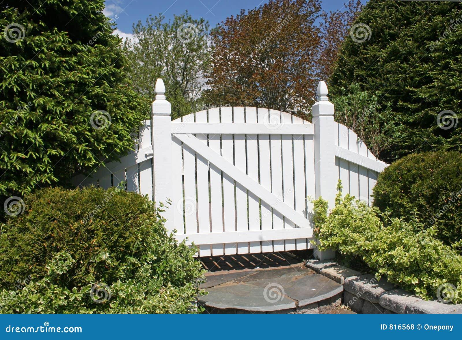 Cancello Di Giardino Bianco Fotografia Stock Immagine Di