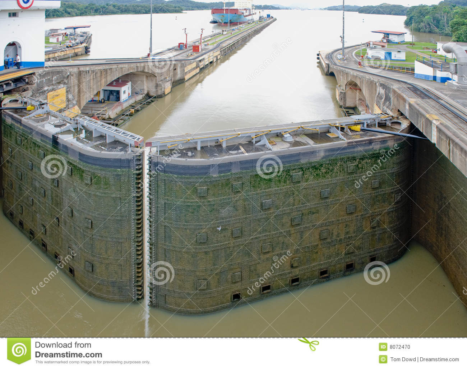 Cancello di serratura del canale di Panama