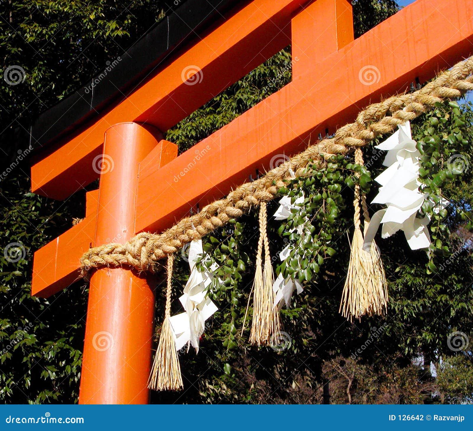 Cancello giapponese del tempiale