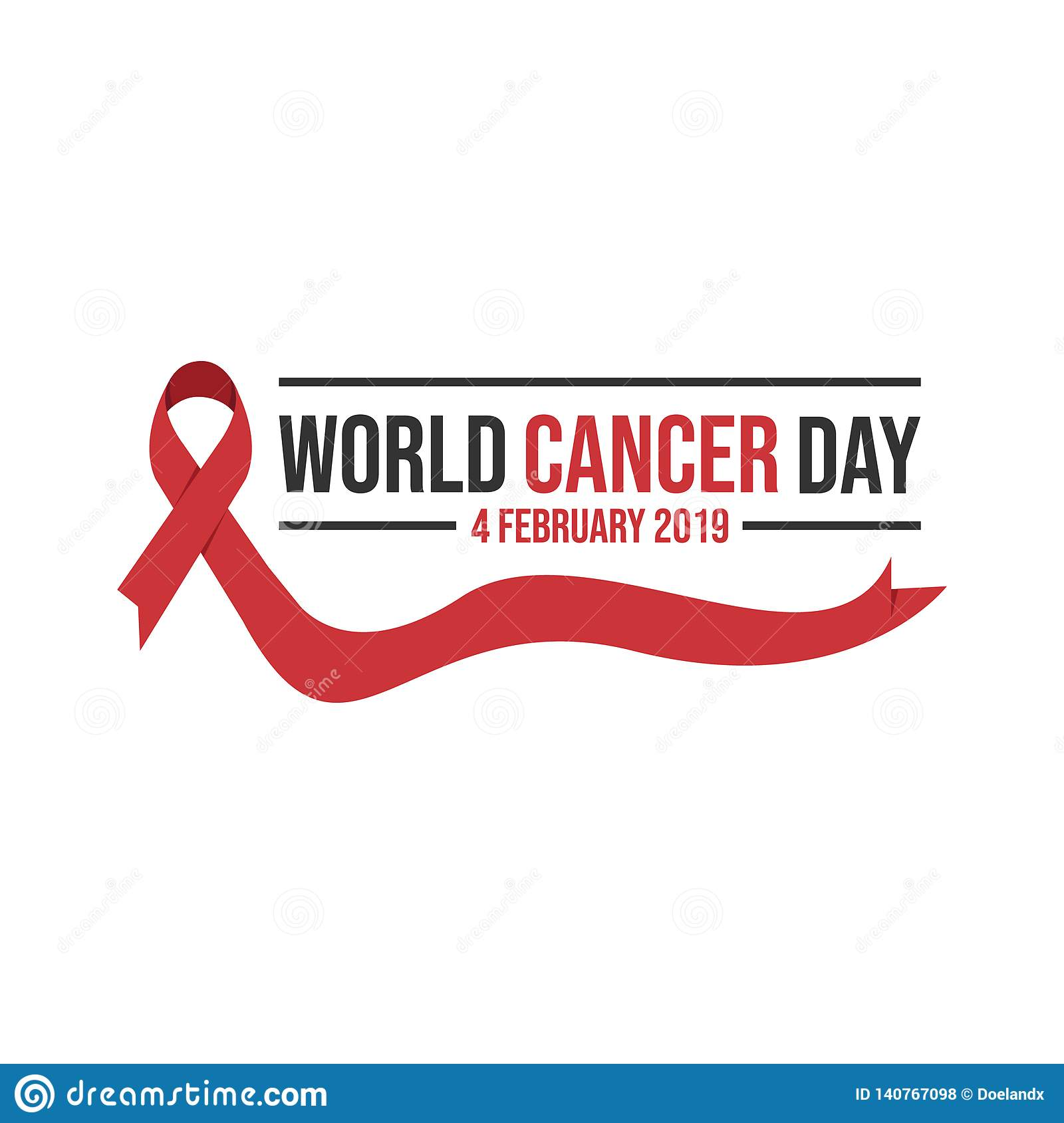 45eeea0e653 Cancer day concept, we can i can on white background.World awareness ribbon  of cancer. Preventive health care vector banner. Illustration of campaign  day of ...