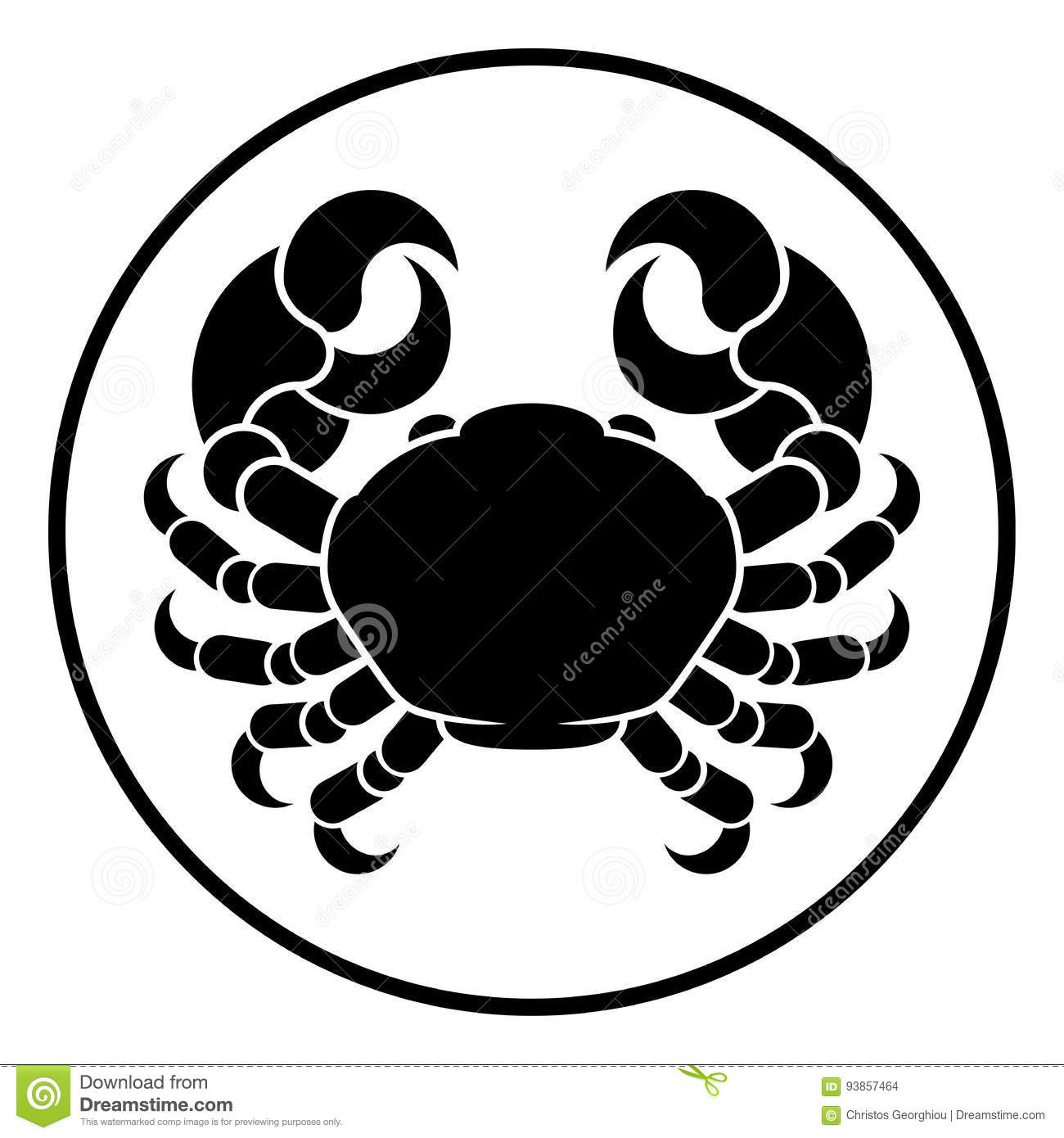 Cancer Horoscope Zodiac Sign Crab Stock Vector Illustration Of