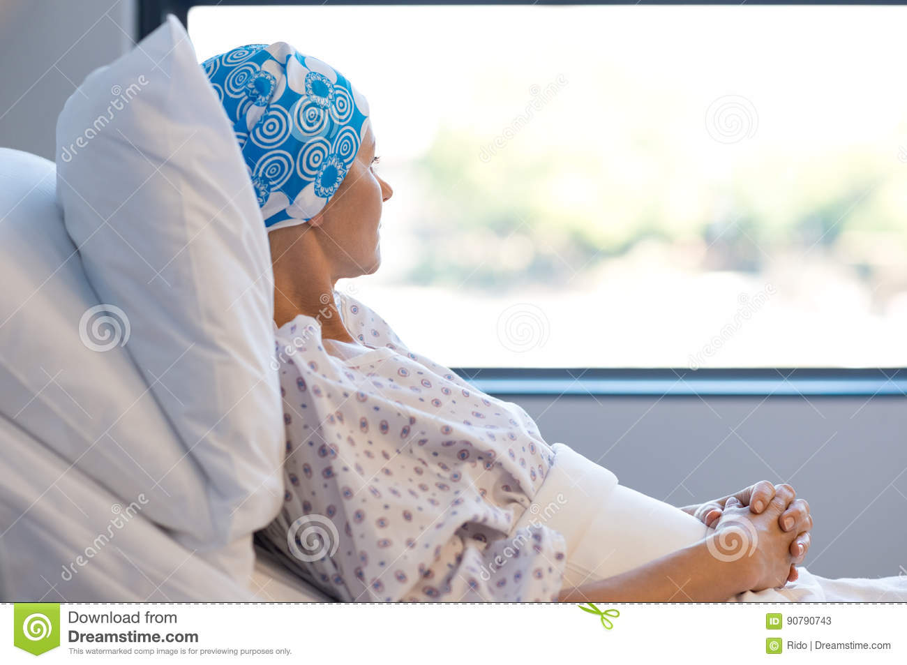 Cancer patient resting