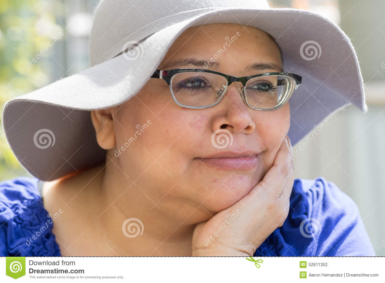 20e5cfc15b3 Cancer Patient Wears Hat For Sun Protection Stock Photo - Image of ...