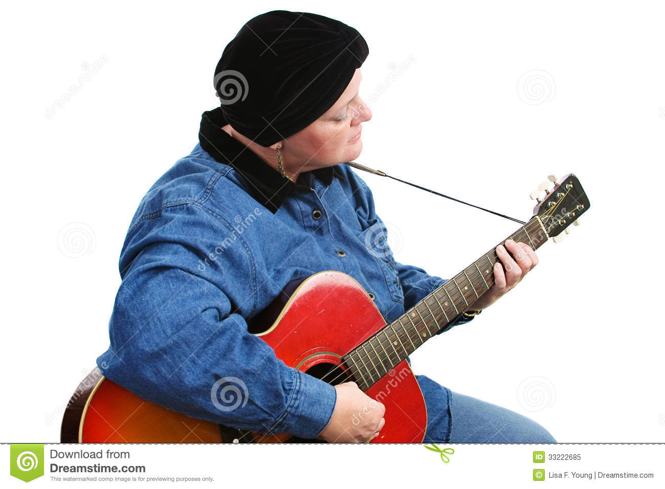 Cancer Survivor Playing Guitar