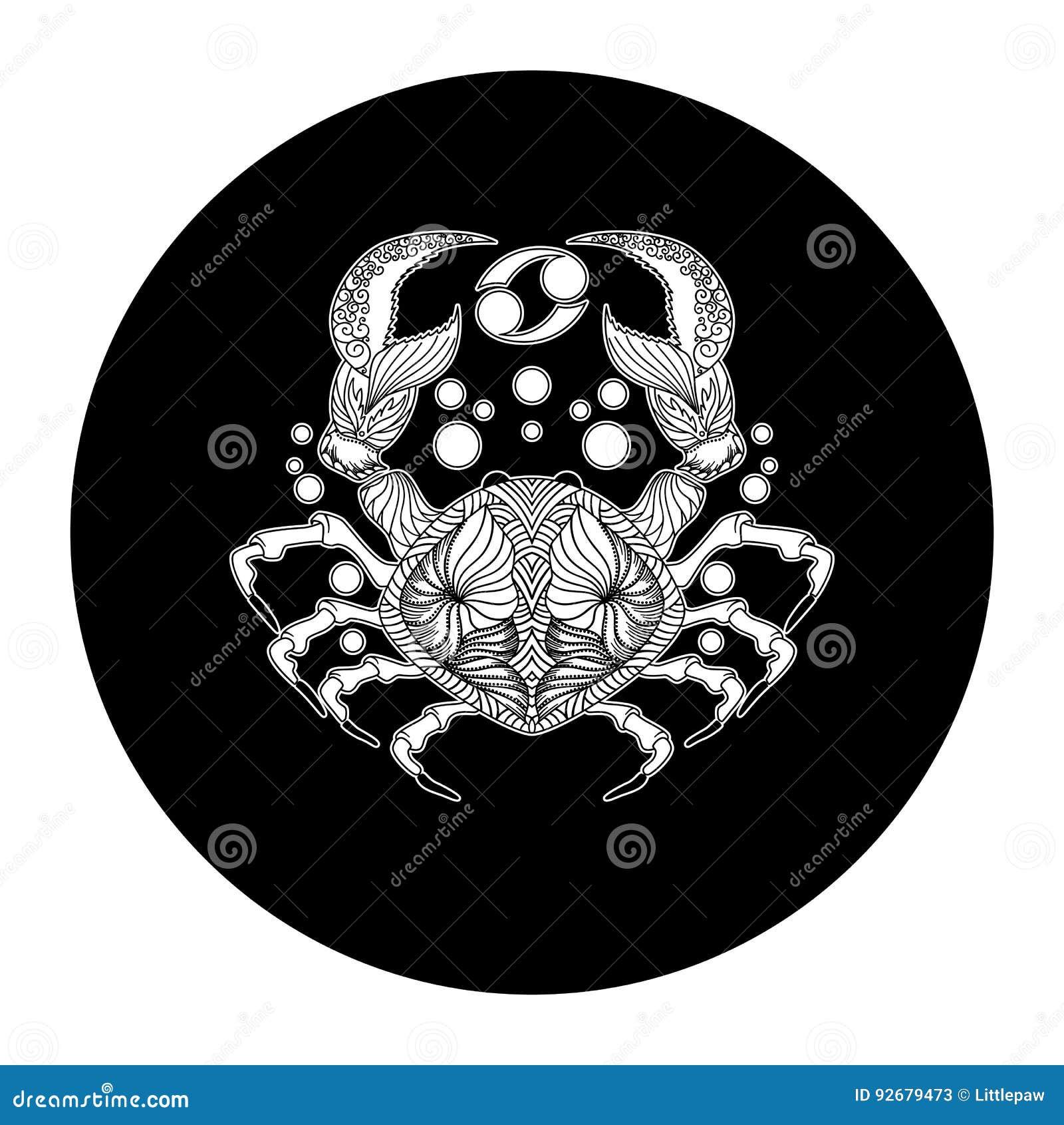 Cancer Zodiac Sign Horoscope Symbol Vector Illustration Stock
