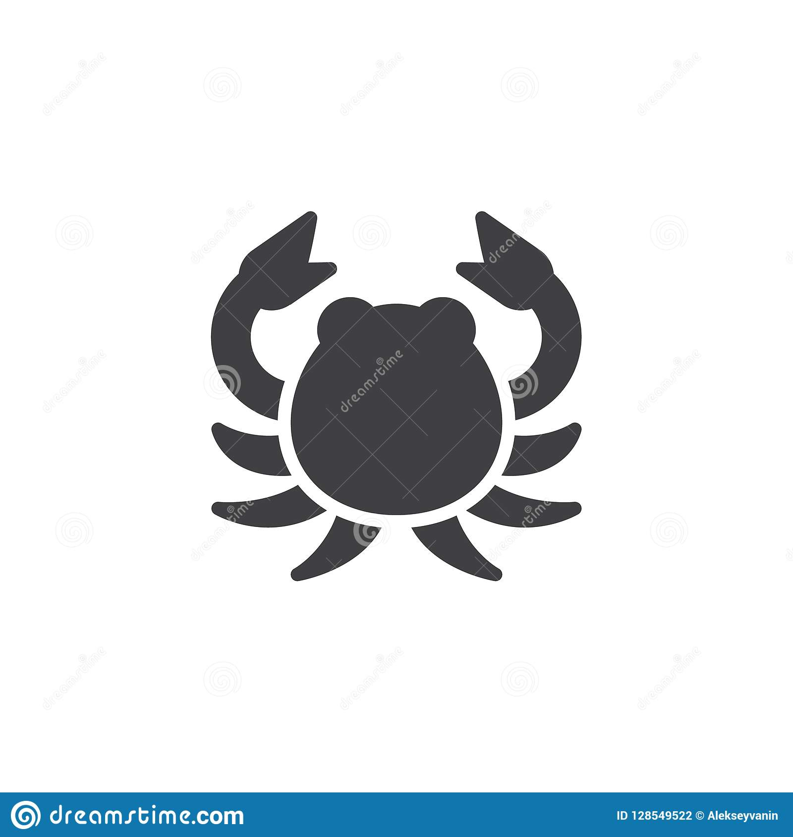 Cancer Zodiac Vector Icon Stock Vector Illustration Of Horoscope