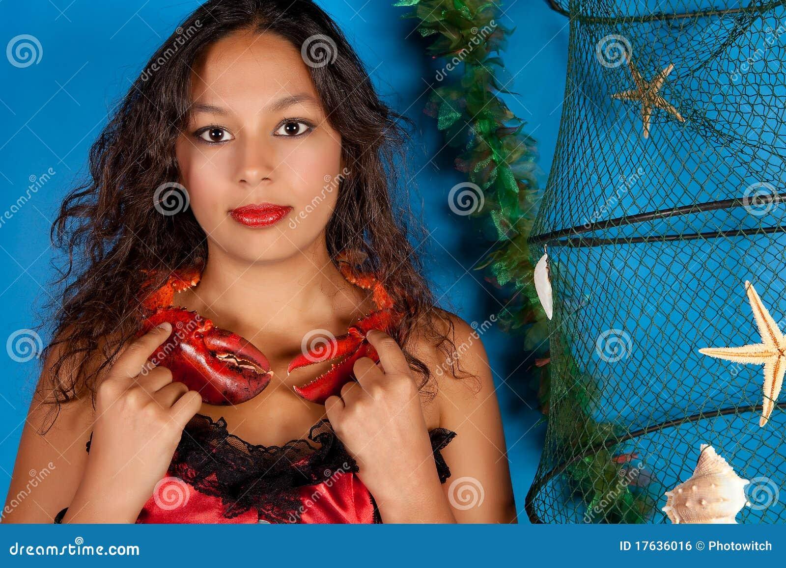 Cancer zodiac woman stock photo. Image of girls ...