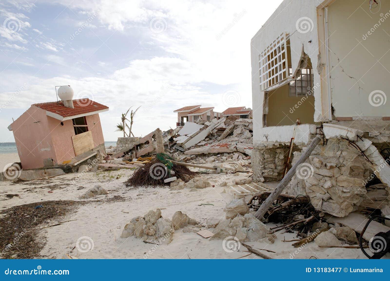 Cancun θύελλα τυφώνα σπιτιών
