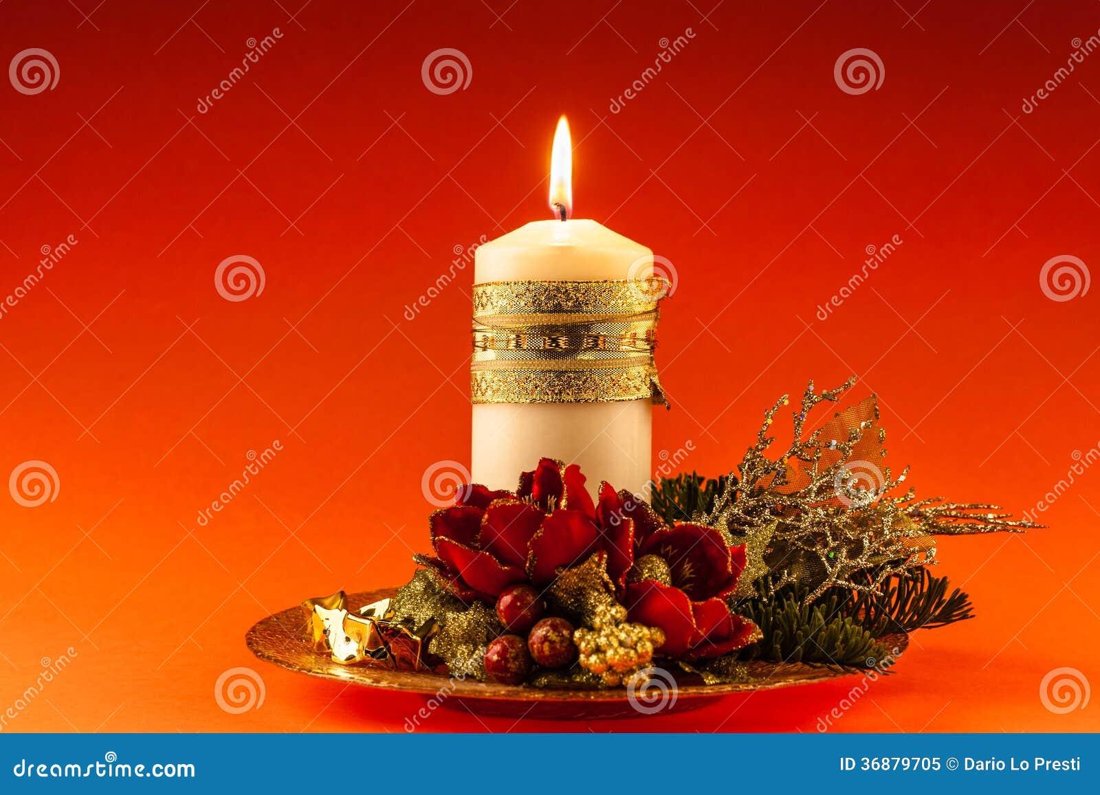 Download Candela di Natale immagine stock. Immagine di ornamentale - 36879705