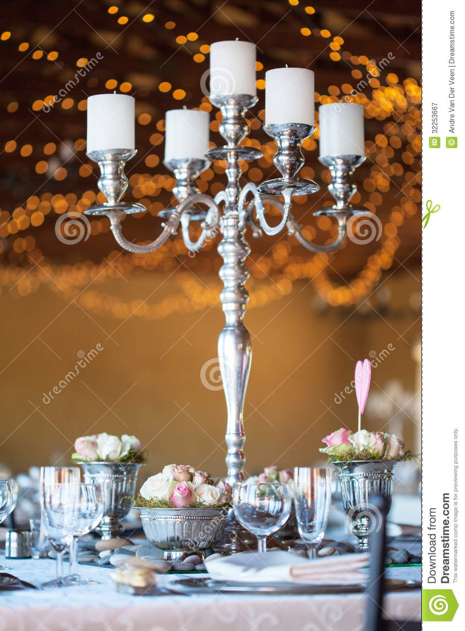 Candelabra Fairy Flowers Lights Reception Table ...