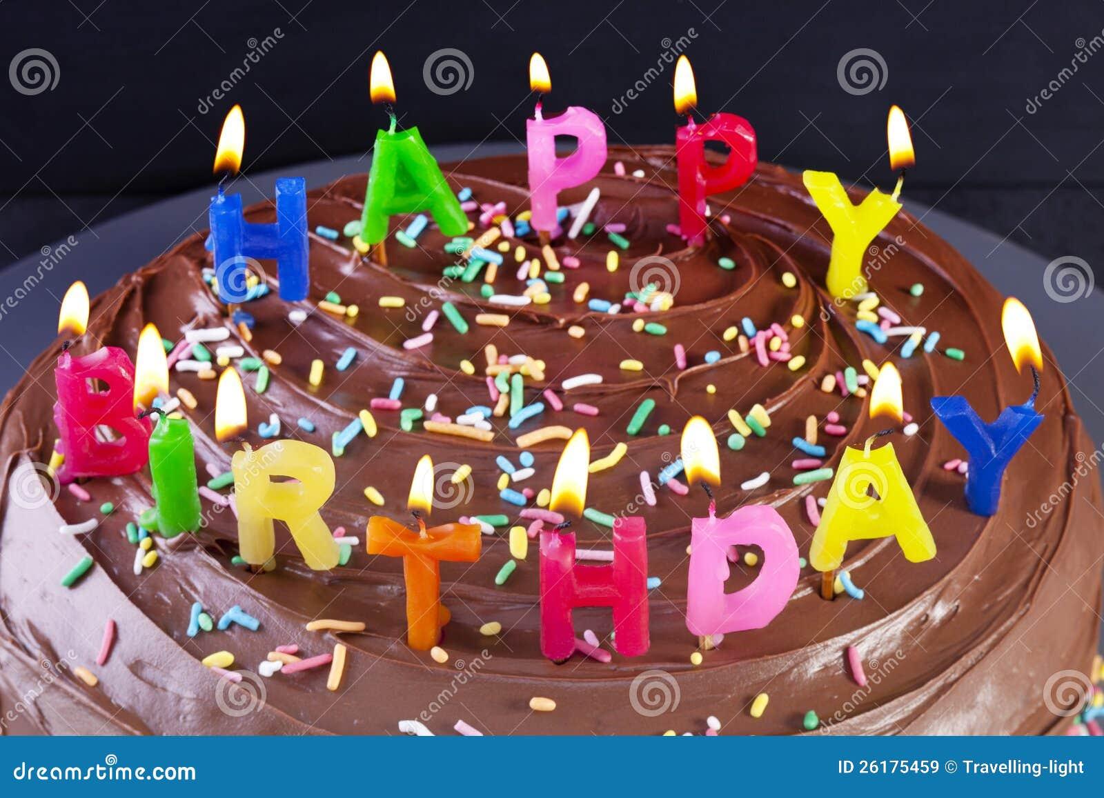 Eccezionale Candele Della Torta Di Buon Compleanno Immagine Stock - Immagine  GO67