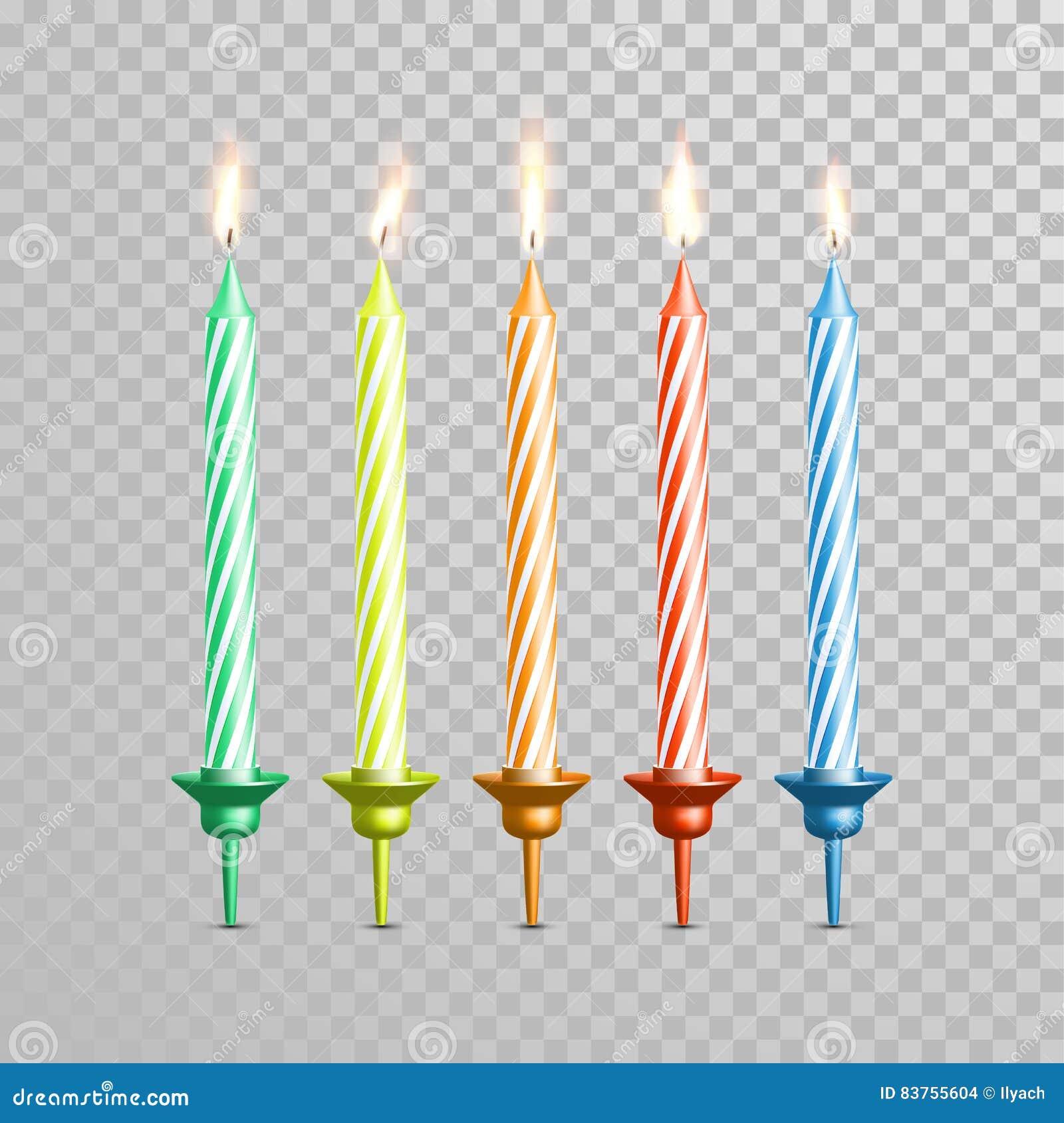 Il Colore Delle Candele.Candele Di Compleanno Per L Insieme Della Candela Di Vettore