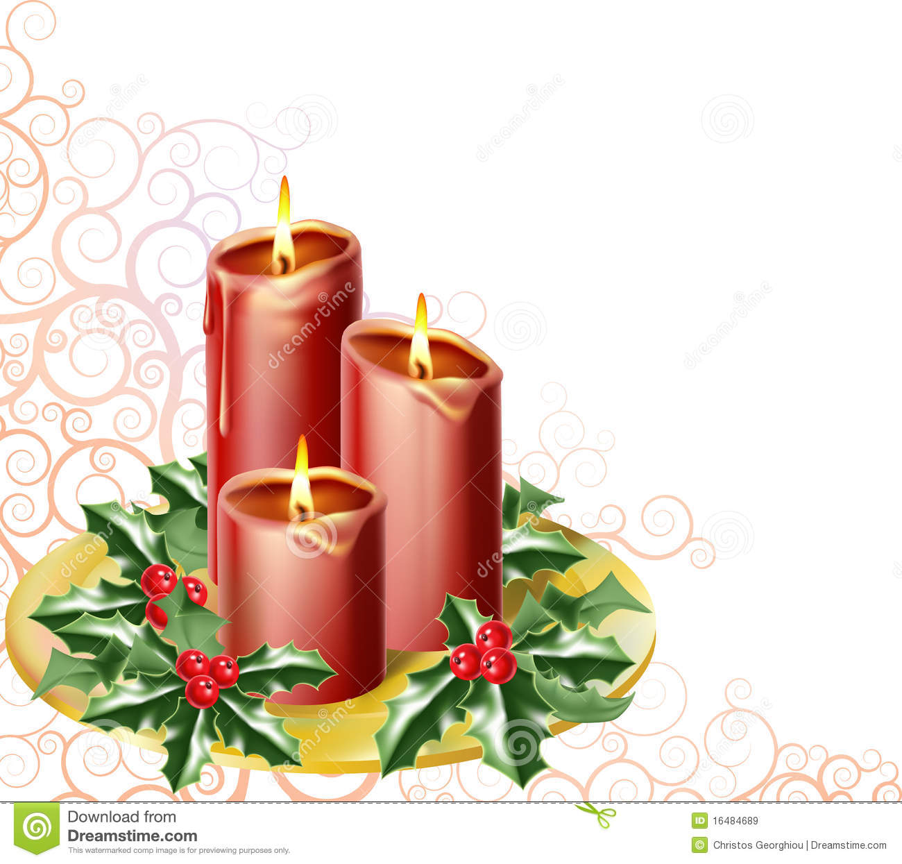 Candele di natale illustrazione vettoriale illustrazione for Candele colorate