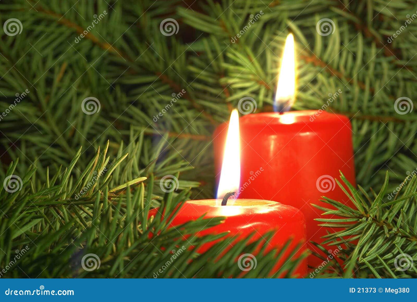 Candele Di Natale Fotografie Stock - Immagine: 21373
