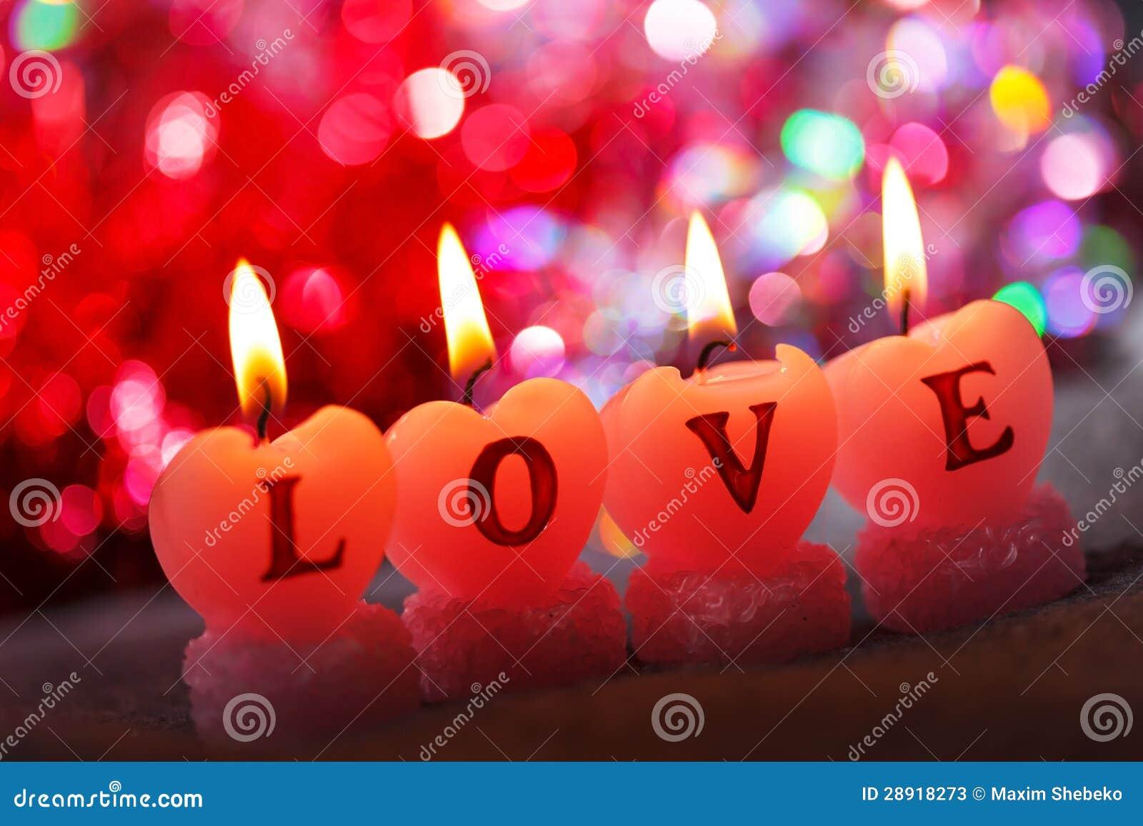 Candele Romantiche Fotografie Stock - Immagine: 28918273