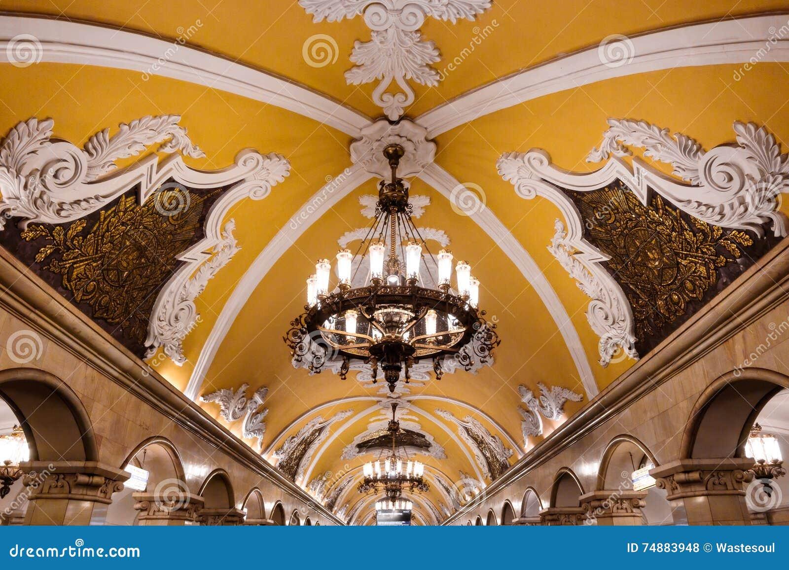 Candeliere in metropolitana di Mosca