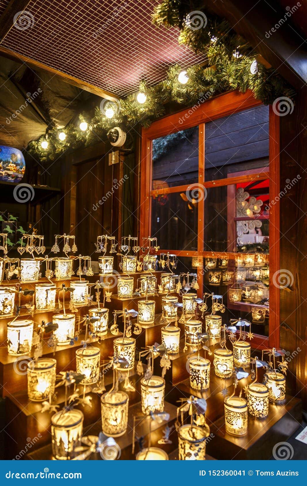 Candels en el mercado de la Navidad