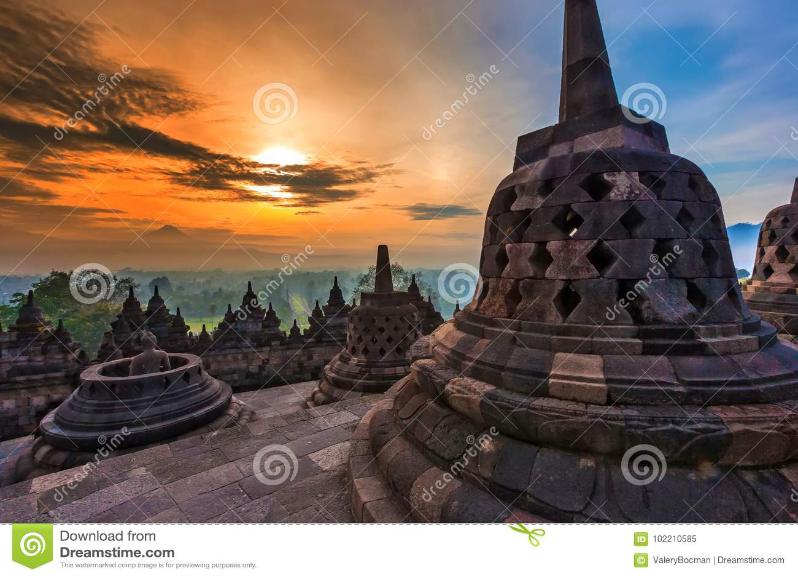 Candi Borobudur, Yogyakarta, Jawa, Indonesia