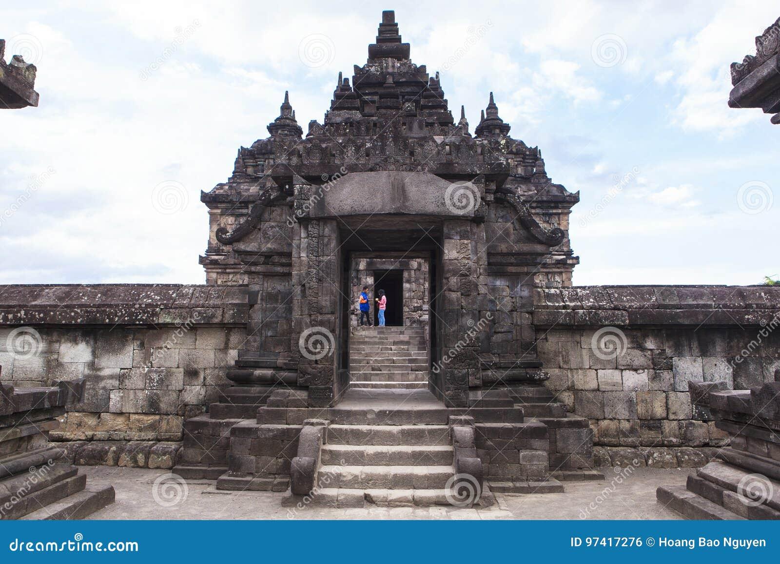Candi Plaosan i Yogyakarta, Indonesien