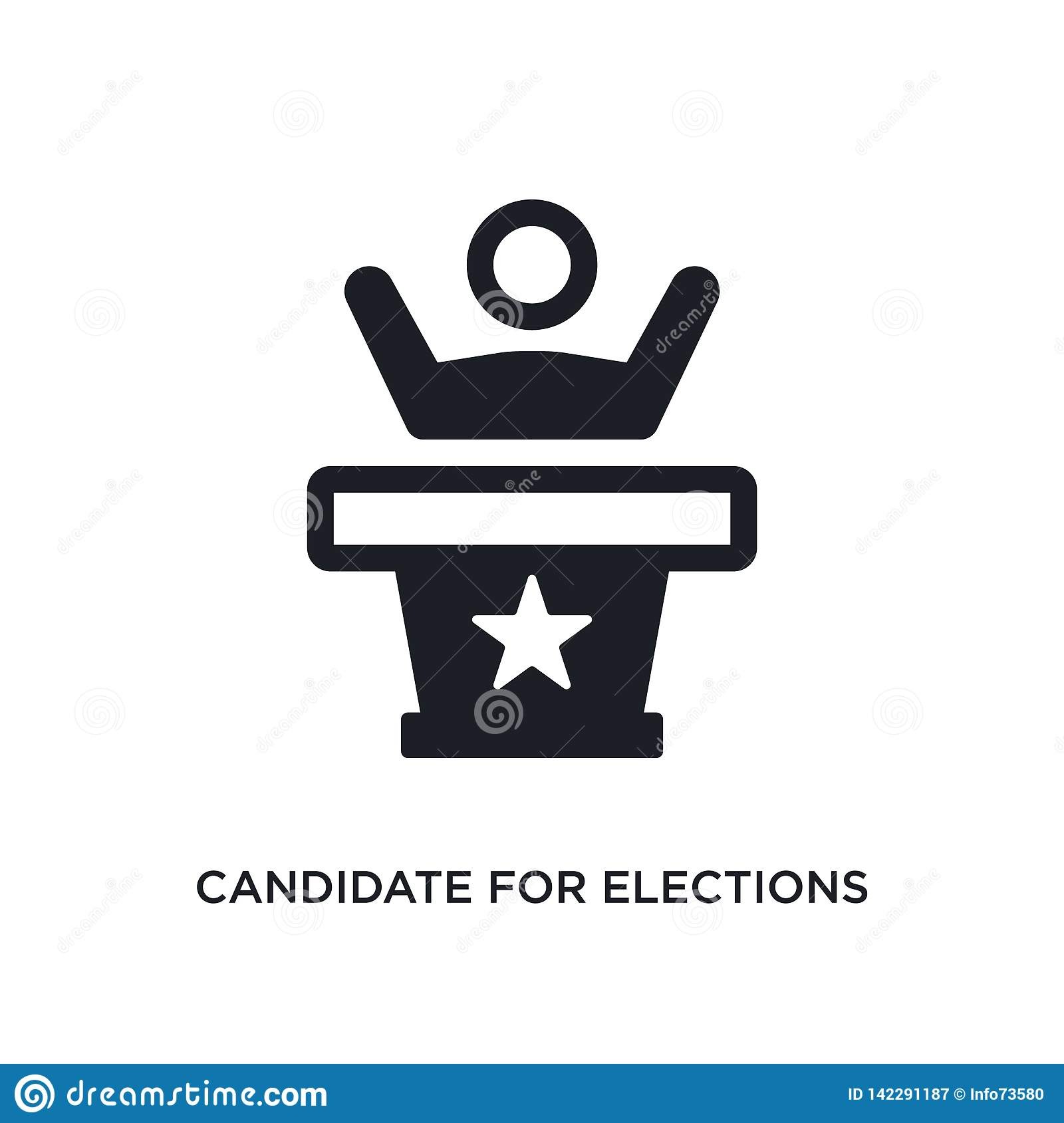 candidate for elections isolated icon. simple element illustration from political concept icons. candidate for elections editable