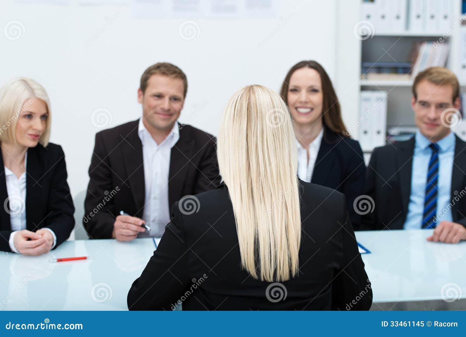 Candidato de trabalho em uma entrevista
