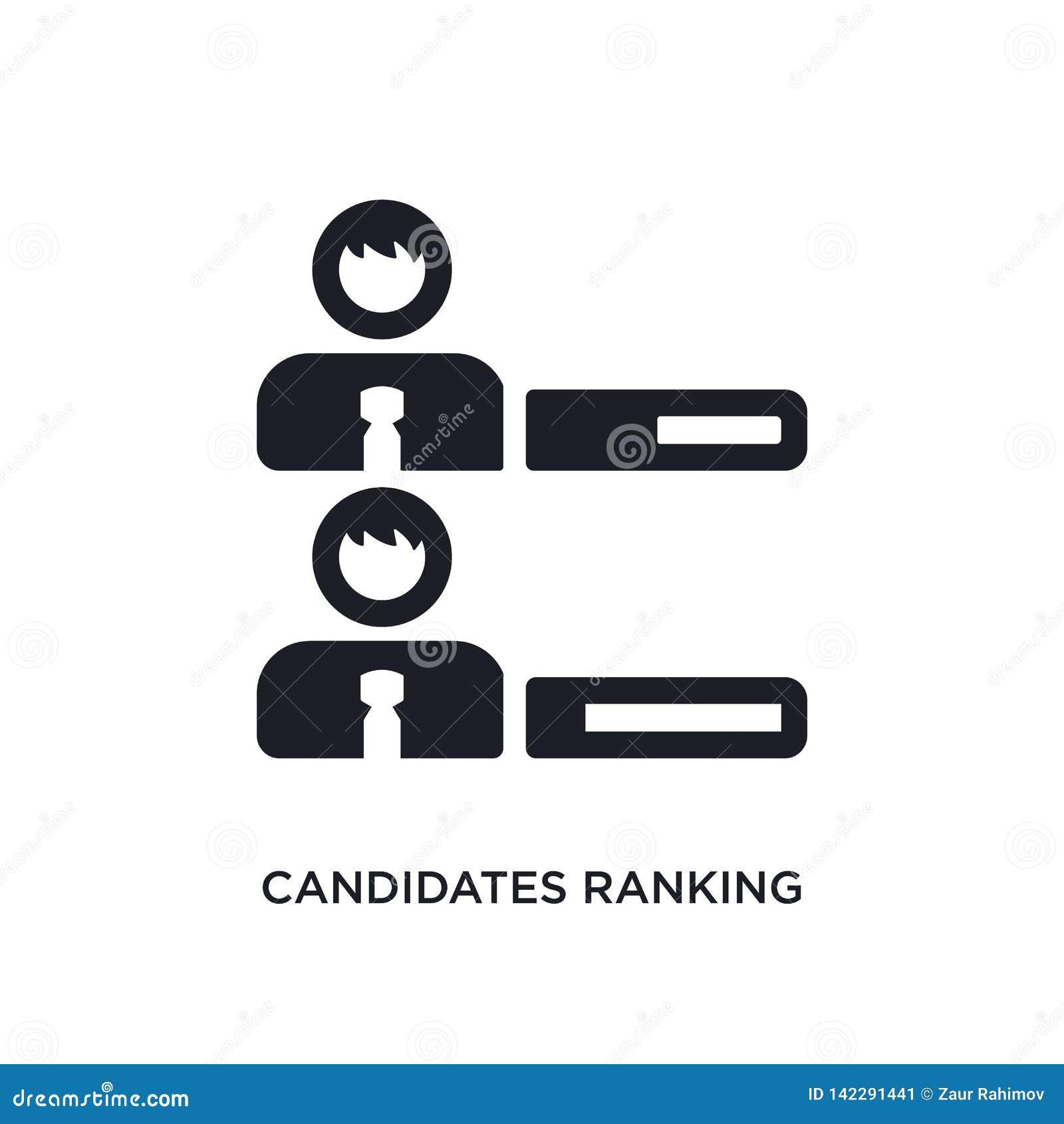 Candidats rangeant l icône d isolement graphique illustration simple d élément des icônes politiques de concept candidats rangean