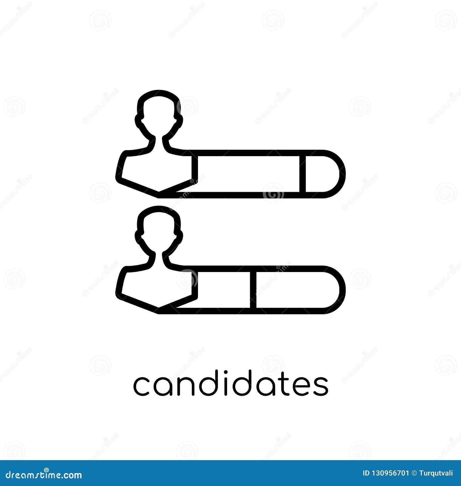 Candidats rangeant l icône graphique de la collection politique