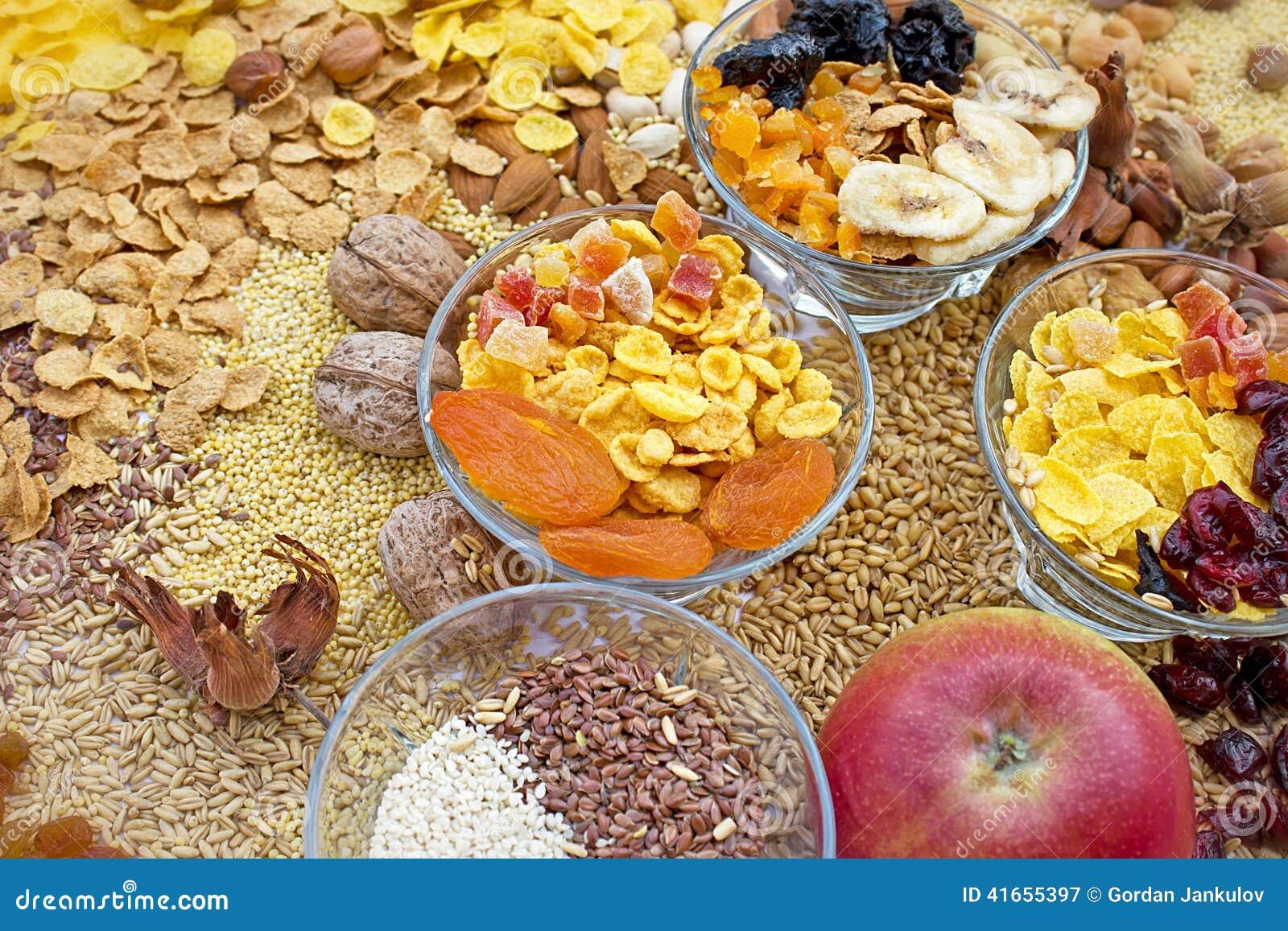 Candied, сухофрукт, зерно и хлопь
