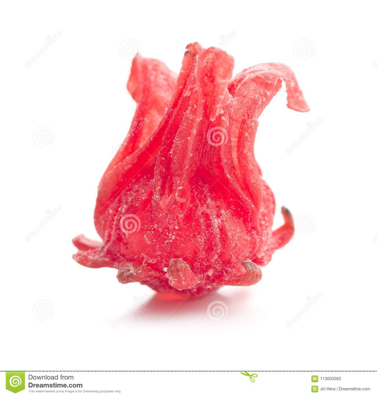 Candied Hibiscus Flower Stock Image Image Of Natural 113003563