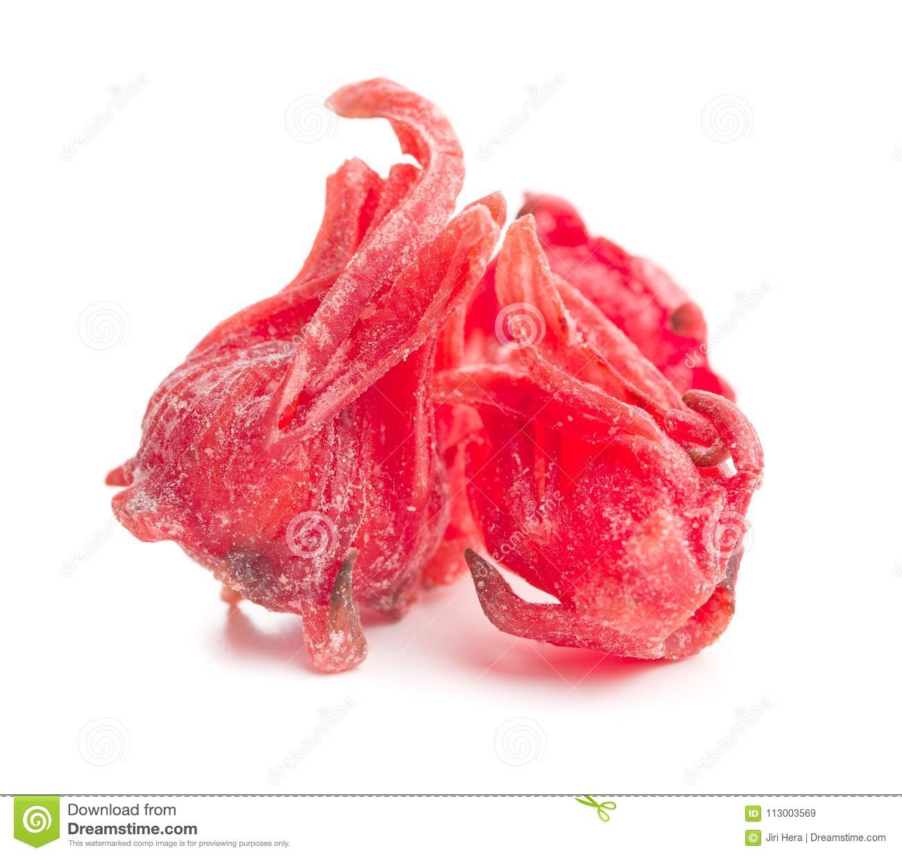 Candied Hibiscus Flower Stock Image Image Of Eating 113003569