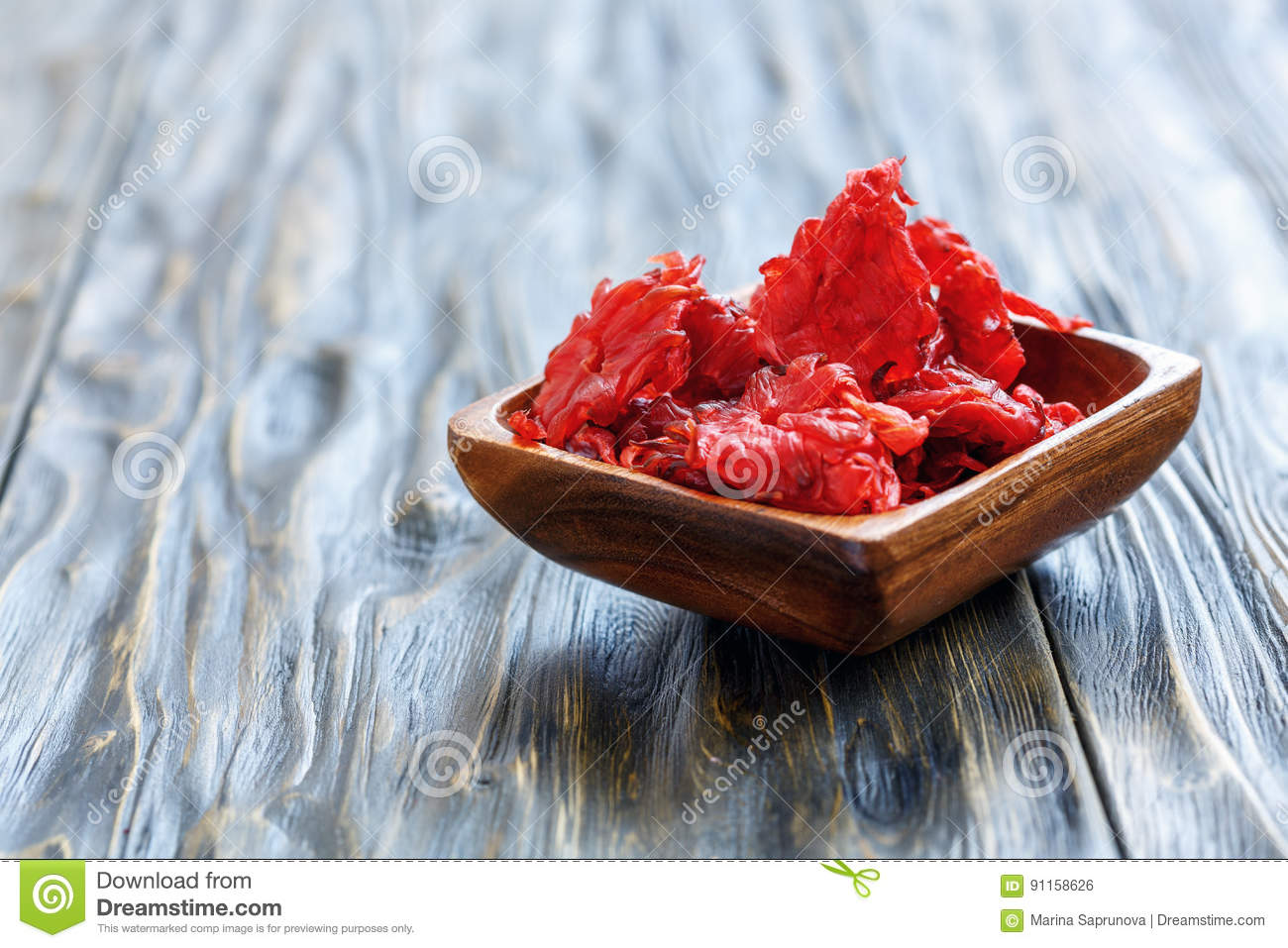 Candied Hibiscus Flowers Stock Photo Image Of Vegetarian 91158626