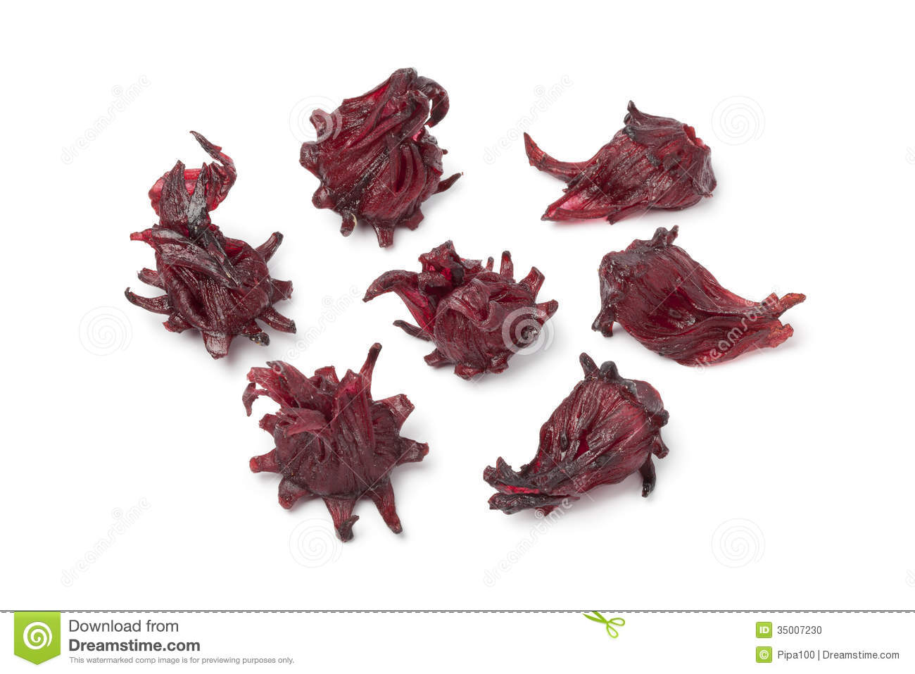 Candied Hibiscus Flowers Stock Photo Image Of Background 35007230