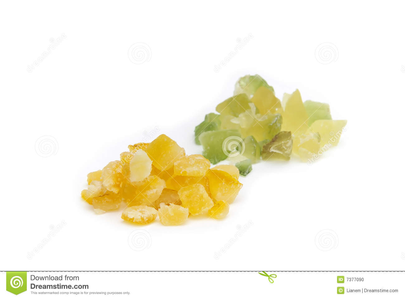 Candied Lemon Peel And Candied Orange Peel Stock Photo - Image ...