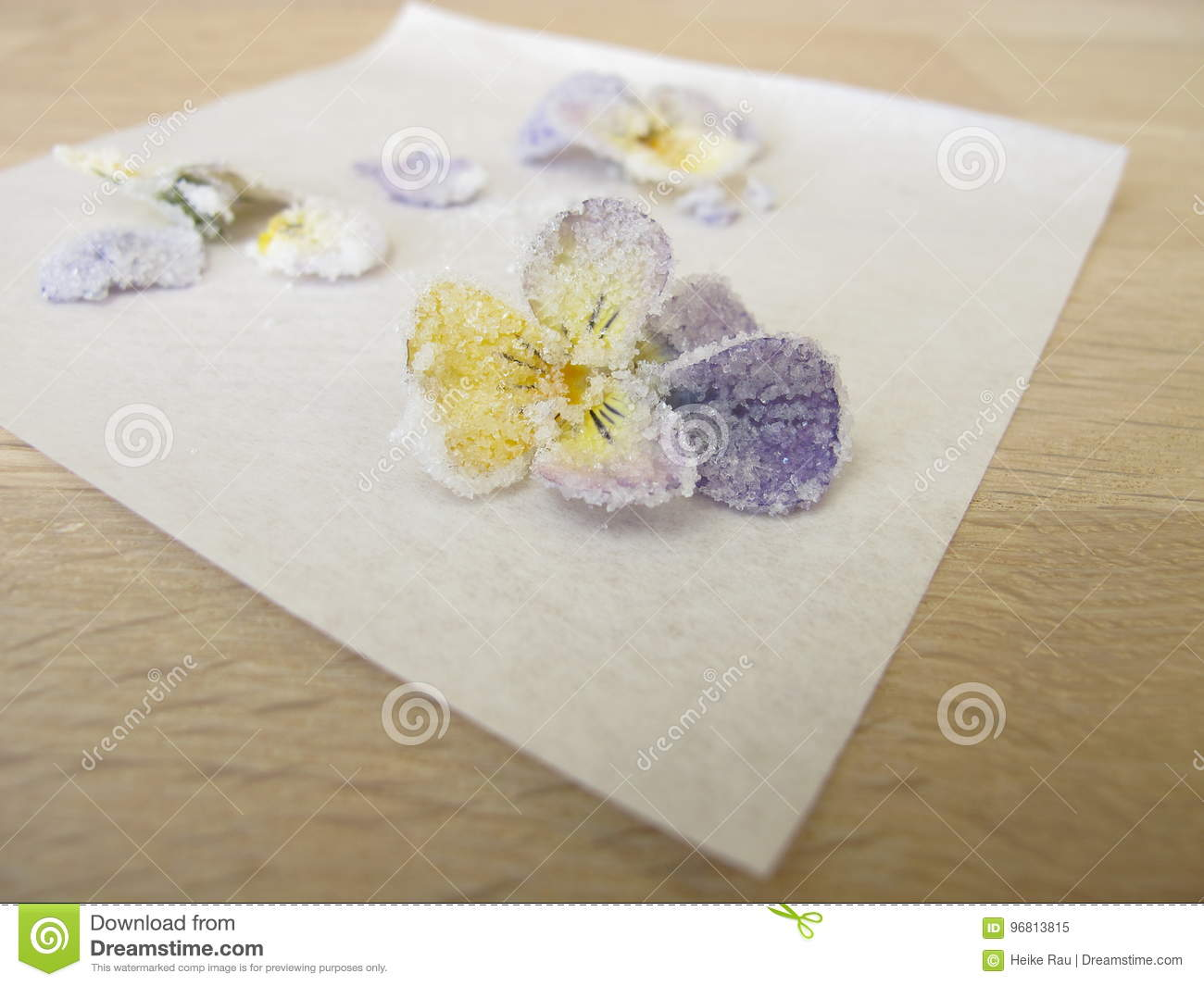 Candied rogaty pansy