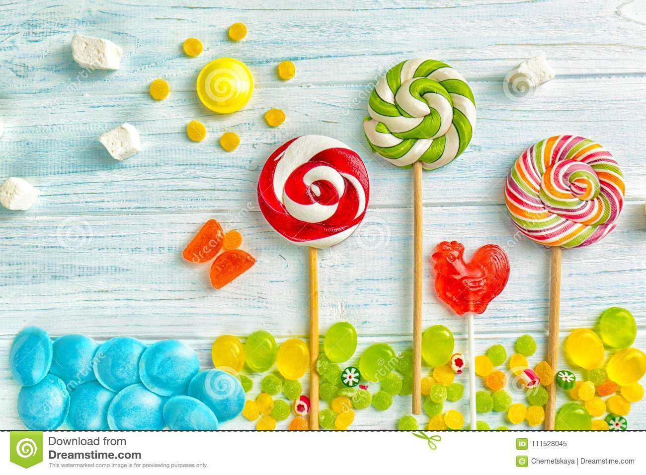 Candies and lollipops stock image  Image of natural - 111528045