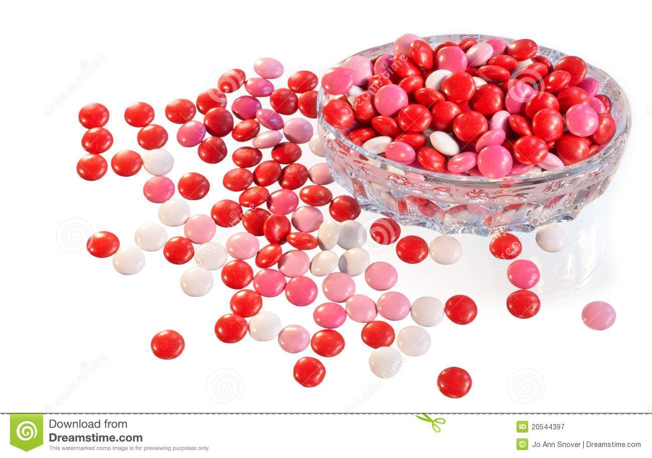 Candies spilling out of dish