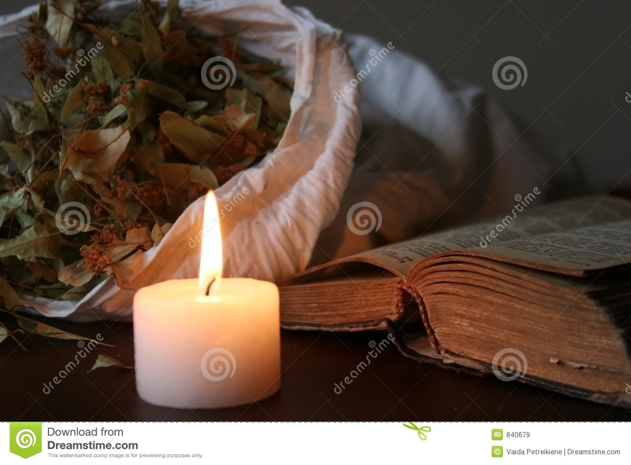 Candle, Book and Other
