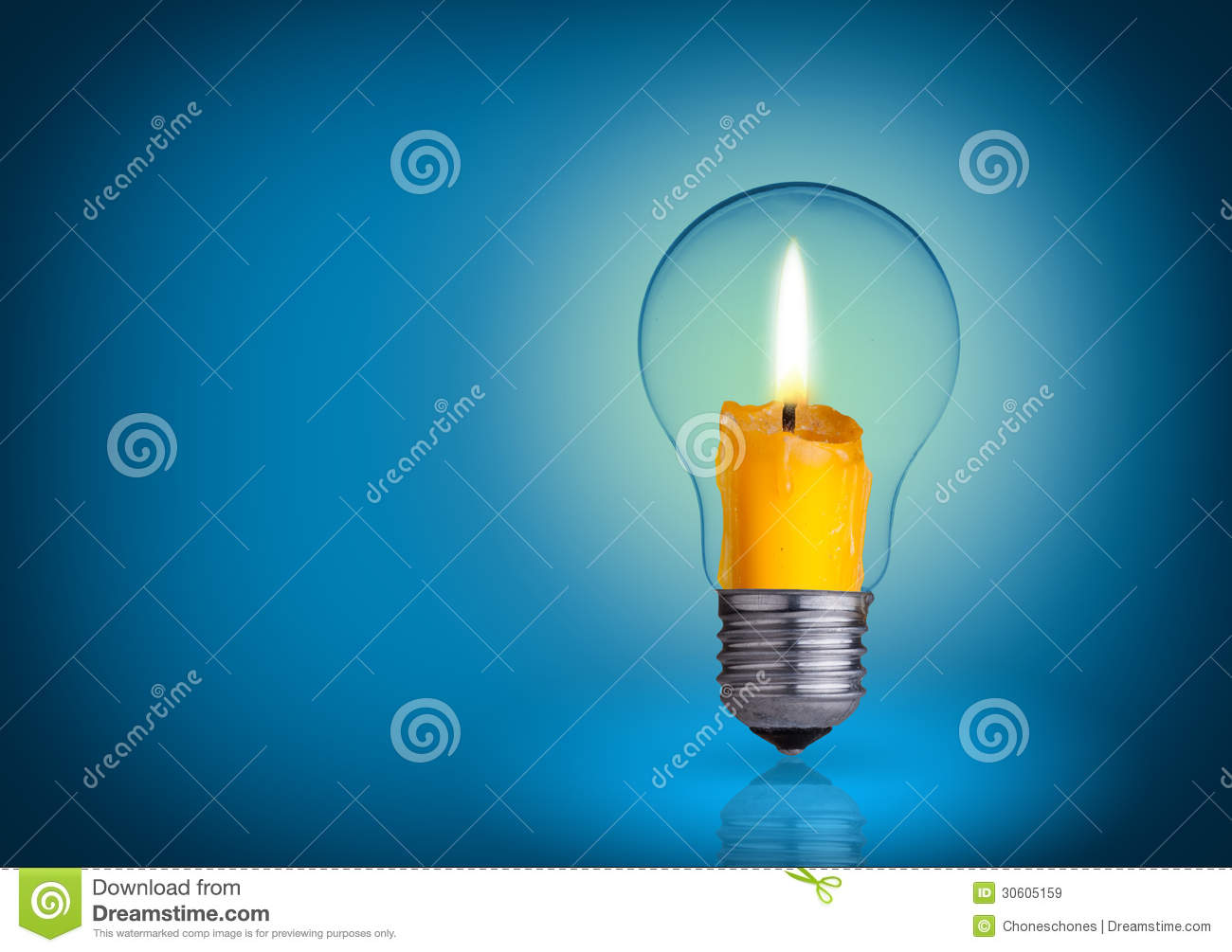 Candle in bulb royalty free stock images image 30605159 for Into lighting