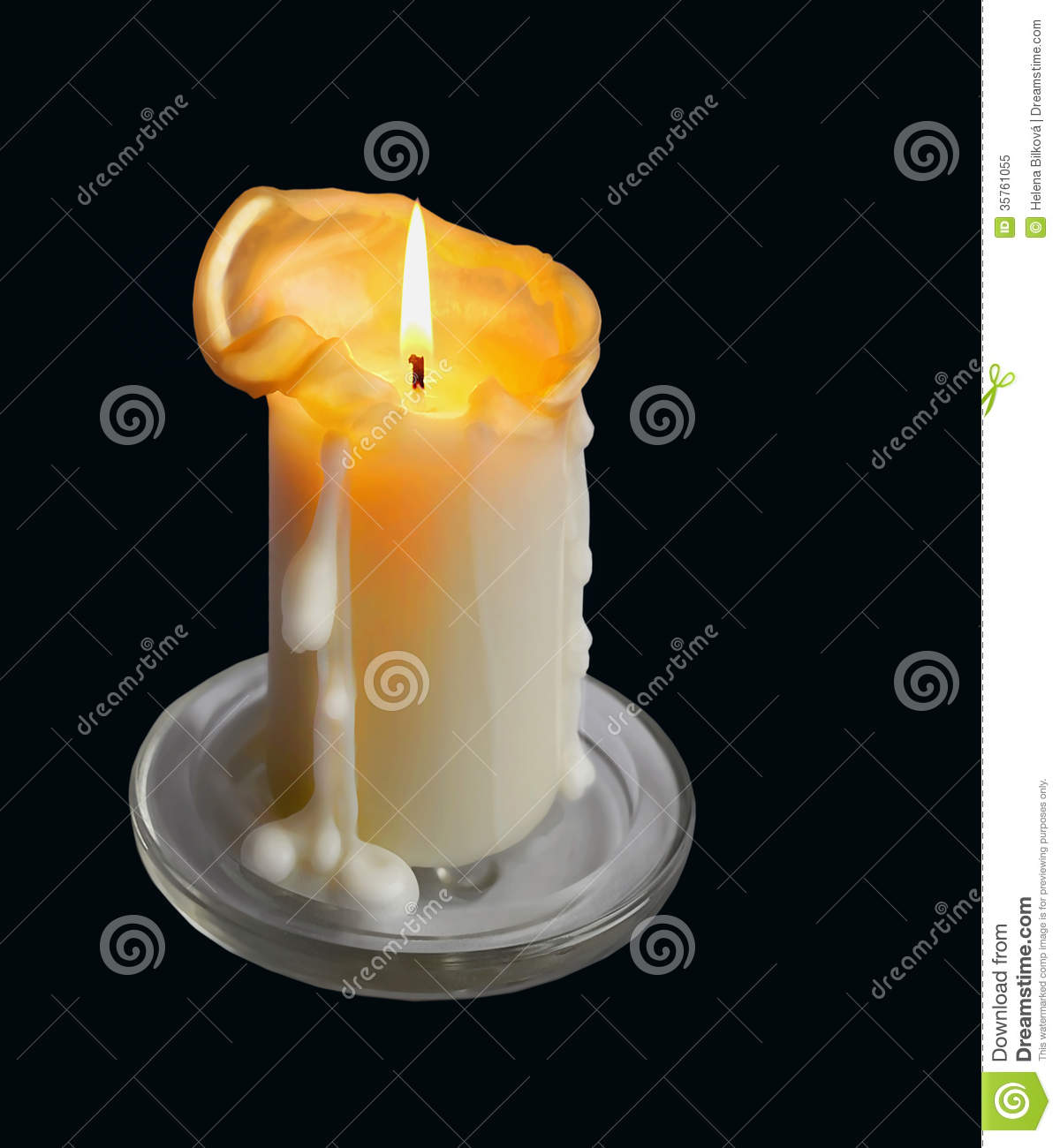 Dripping Candle Candle with wax drippingDripping Candle Drawing