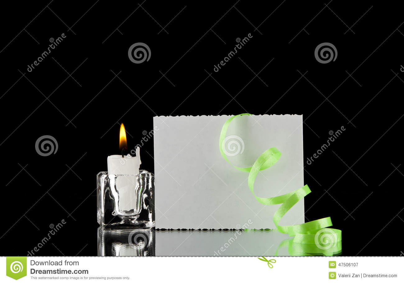 Candle and business card stock image image of handwriting 47506107 candle and business card magicingreecefo Images