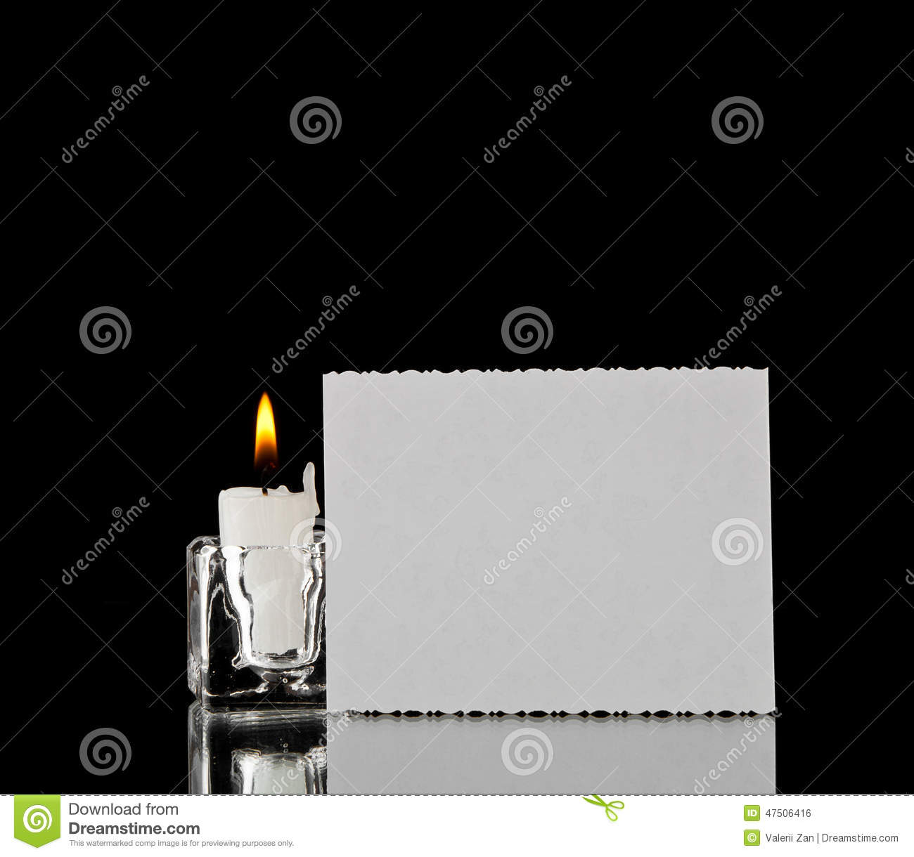 Candle and business card stock photo image of object 47506416 candle and business card magicingreecefo Images